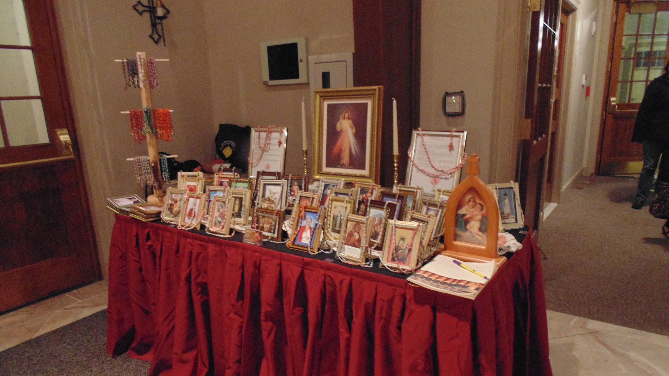 Rosary Table set up